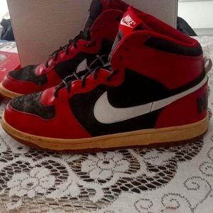 Nike Big Nike High Varsity Red Gum Sole s